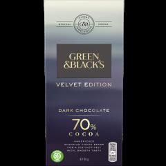 G&B Velvet 70% Dark Chocolate 90g Bar