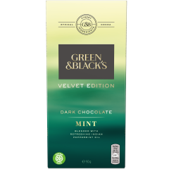 G&B Velvet Mint Dark Chocolate 90g Bar