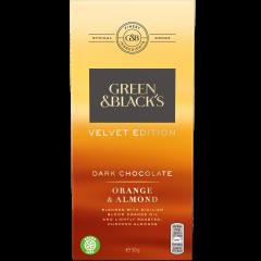 G&B Velvet Orange & Almond Dark Chocolate 90g Bar