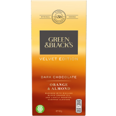 G&B Orange & Almond Dark Chocolate 90g Bar (Box of 18)