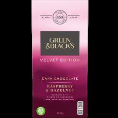 G&B Velvet Raspberry & Hazelnut Dark Chocolate 90g Bar