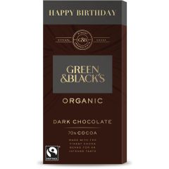 G&B Happy Birthday Dark 70% 90g Bar