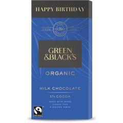 G&B Happy Birthday Milk 90g Bar