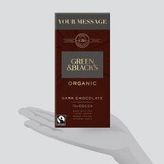 Personalised Green & Black's Organic Dark 70% 90g