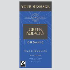 Personalised Green & Black's Organic Milk 90g