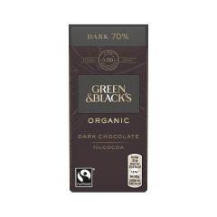 G&B Organic Dark 70% 35g Bar