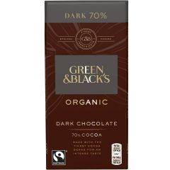 G&B Organic Dark 70% 90g Bar