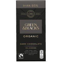 G&B Organic Dark 85% 90g Bar