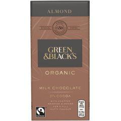 G&B Organic Organic Almond 90g Bar