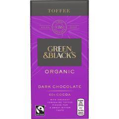 G&B Organic Toffee 90g Bar