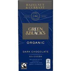 G&B Organic Hazelnut & Currant 90g Bar