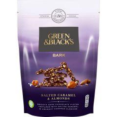 G&B Bark Salted Caramel & Almonds Dark Chocolate Bag 120g