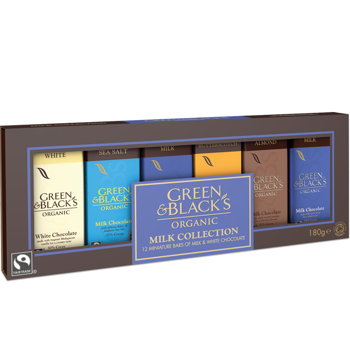 G&Bs Milk Miniature Bar Collection (Box of 12)