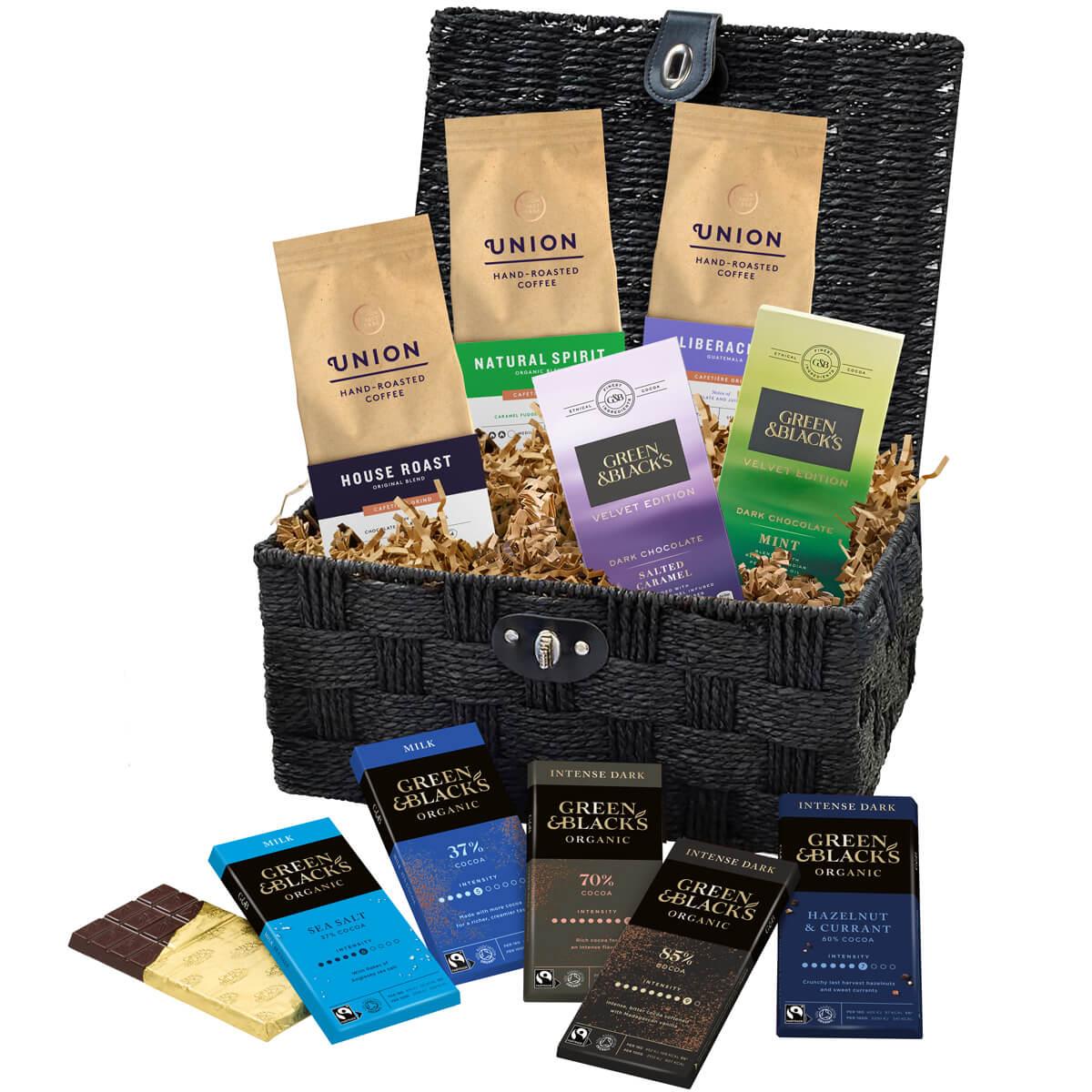 GBs Organic Chocolate  Coffee Basket