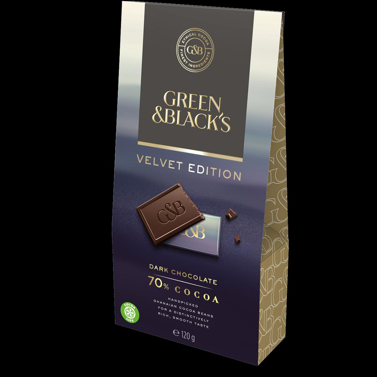 Green & Black's Dark Chocolate 70% Bag 120g (Box of 5)