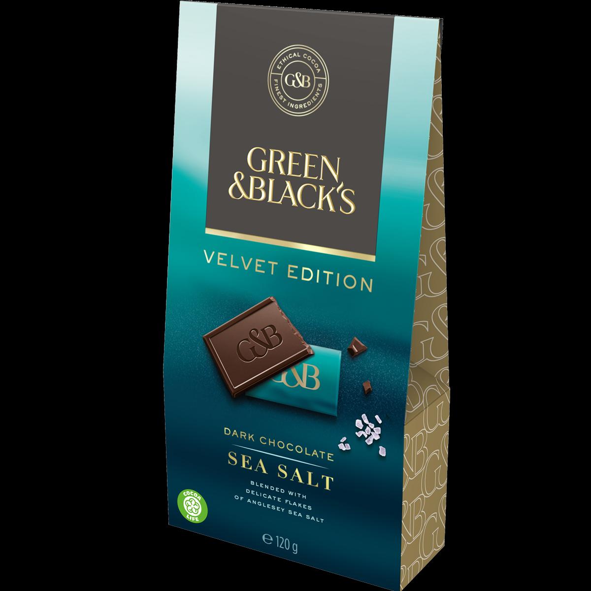 Green & Black's Dark Chocolate Sea Salt Bag 120g (Box of 5)