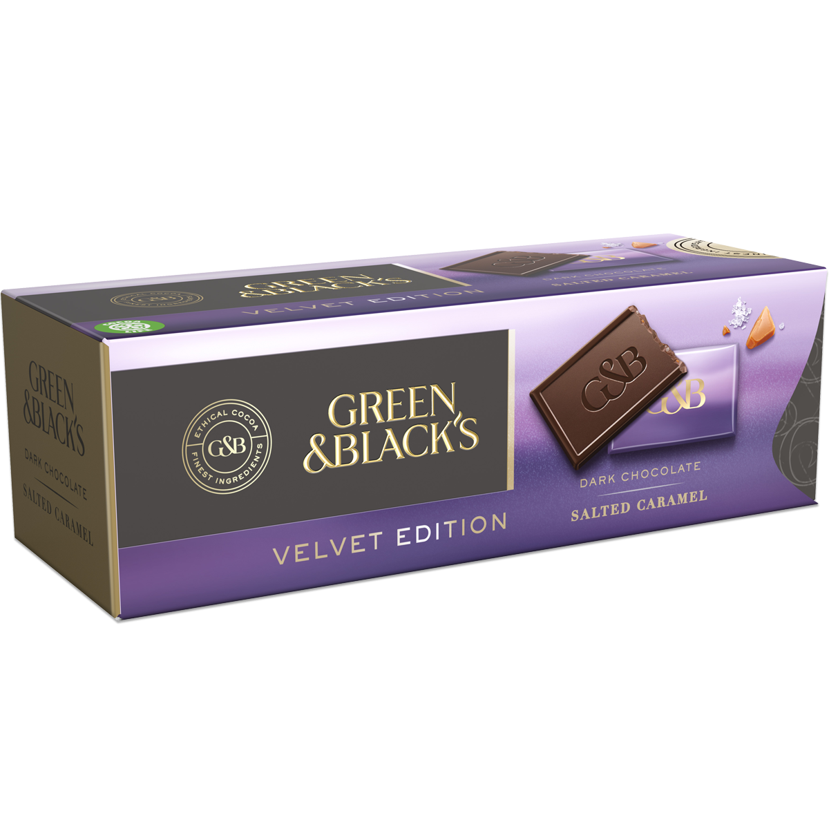 Green & Black's Dark Chocolate Salted Caramel Prism (Box of 9)