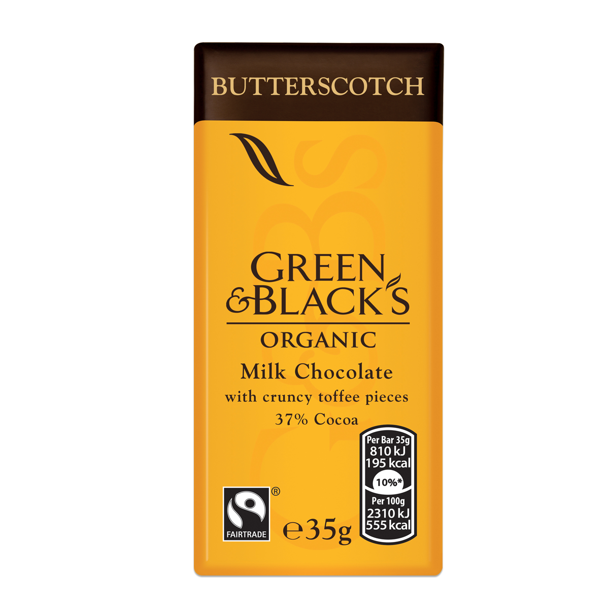 G&B's Butterscotch 35g Bar (Box of 30)