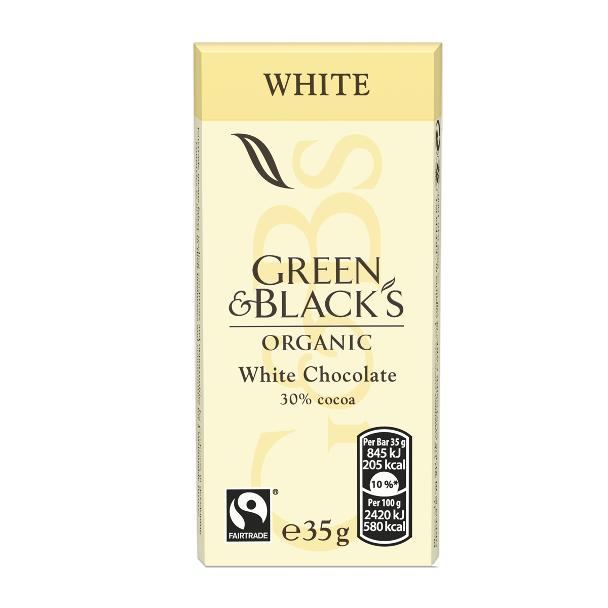 Chocolates G&B's White 35g Bar