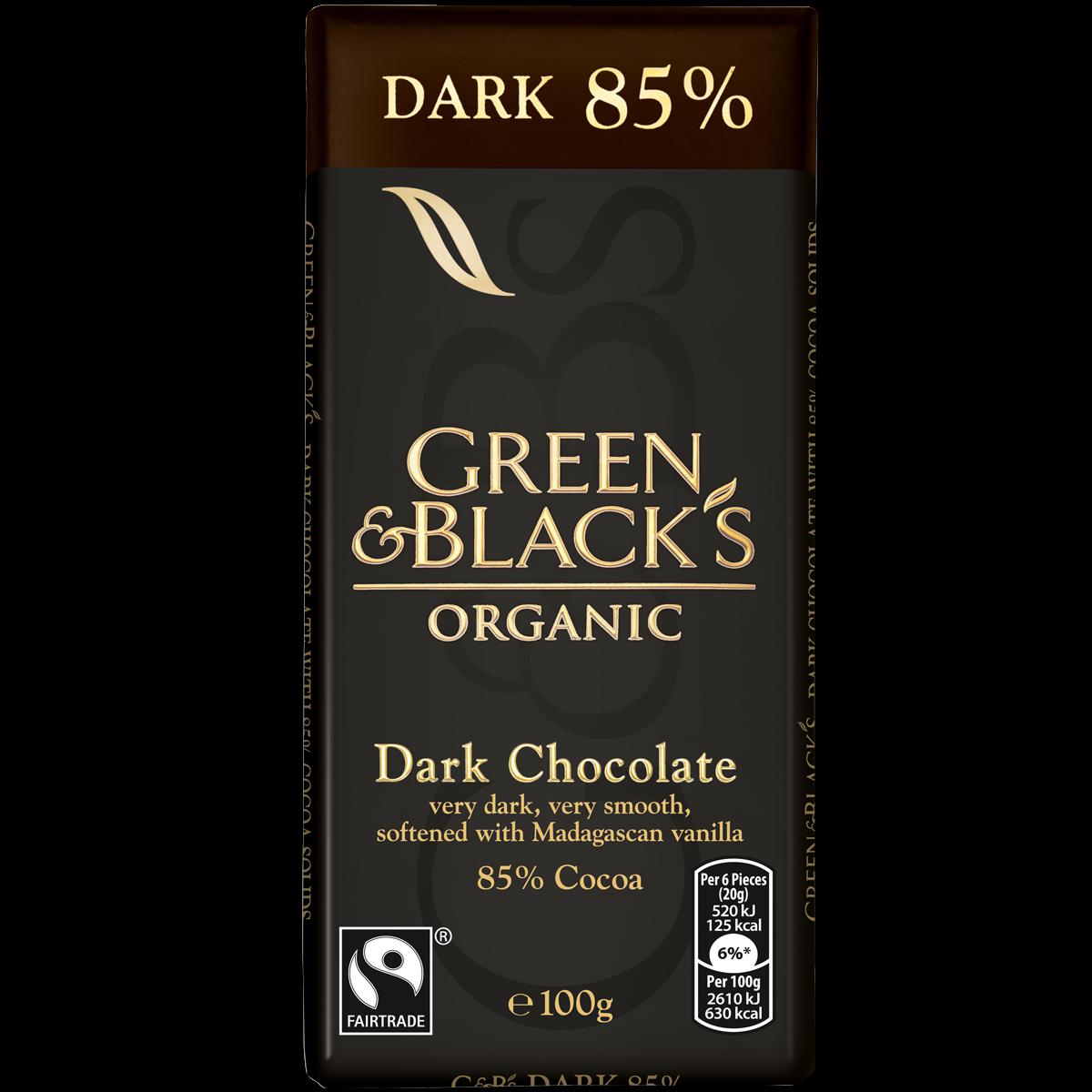 G&B's Dark 85% 100g Bar (Box of 15)
