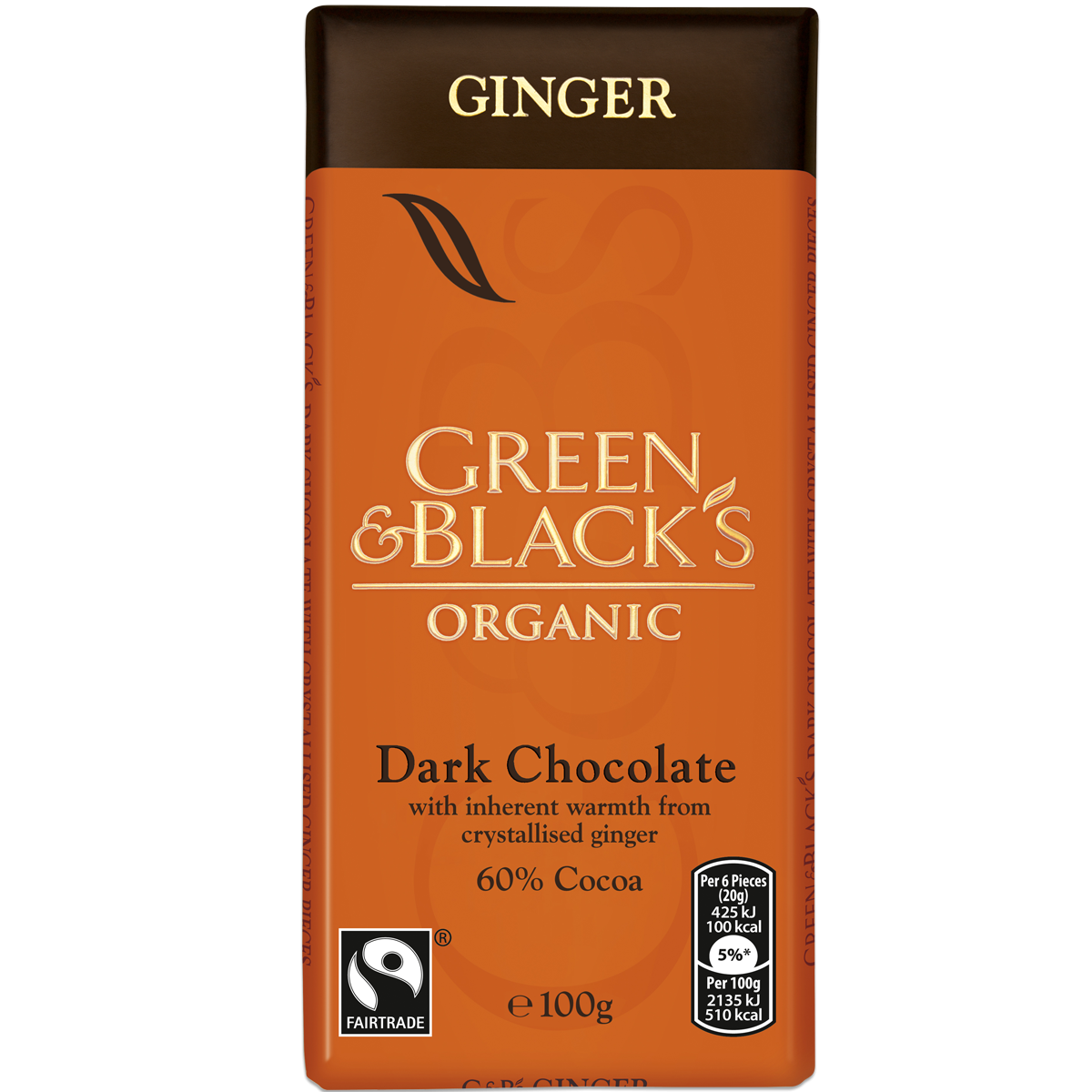 G&B's Ginger 100g Bar (Box of 15)