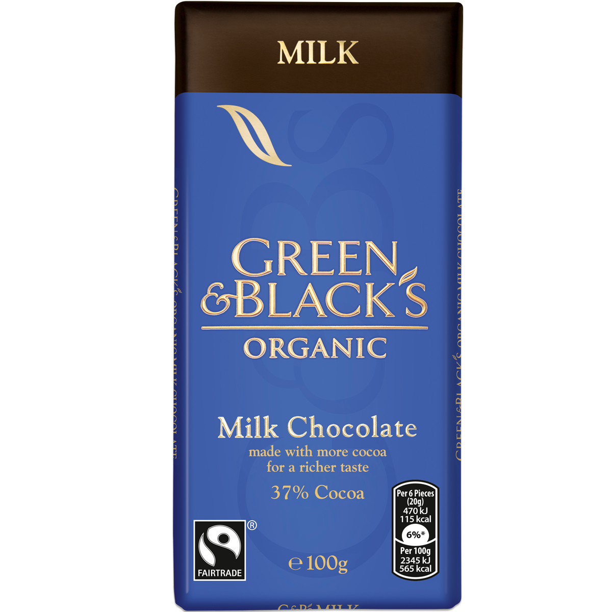 G&B's Milk 100g Bar (Box of 15)
