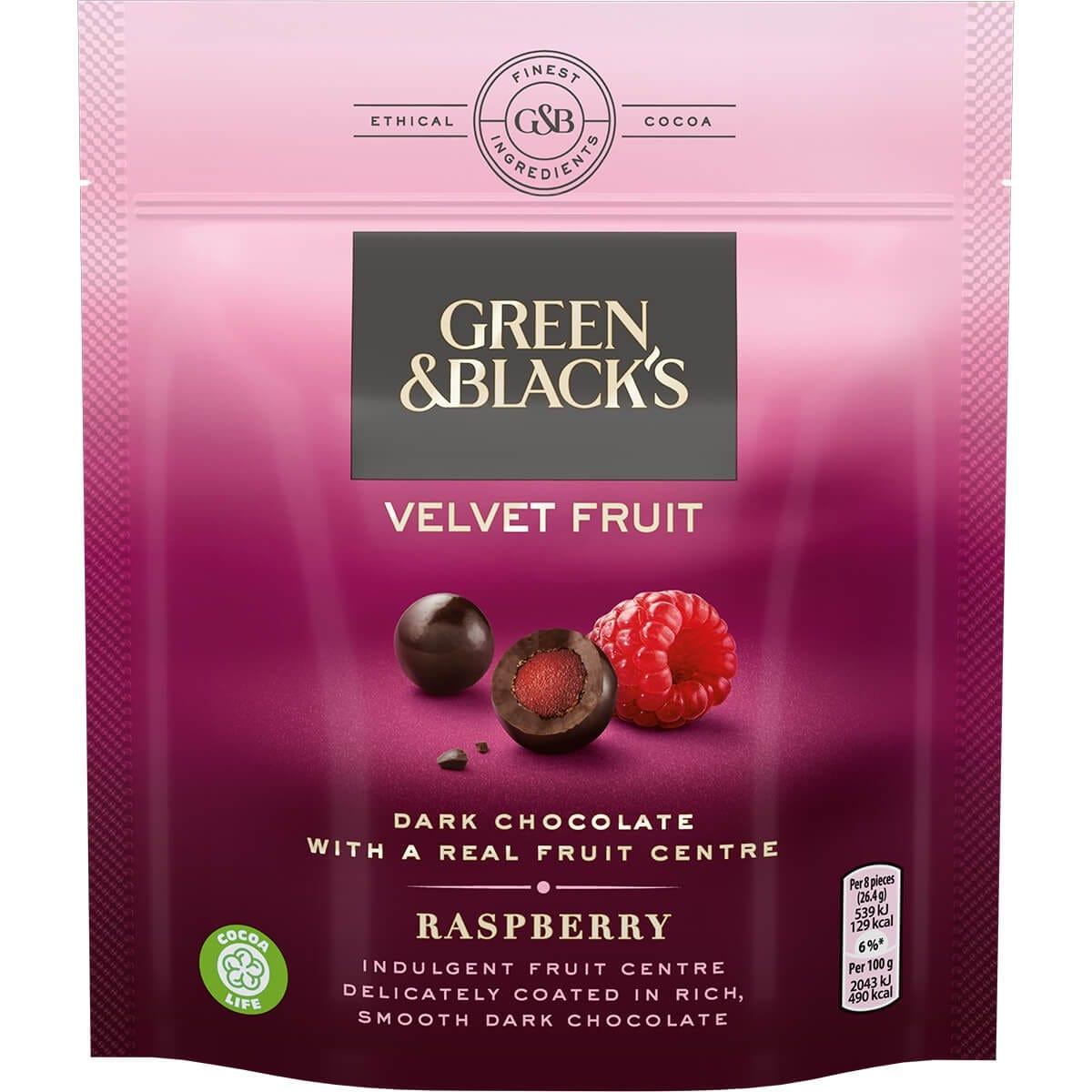 Gifts GB Raspberry Velvet Fruit Bag 120g