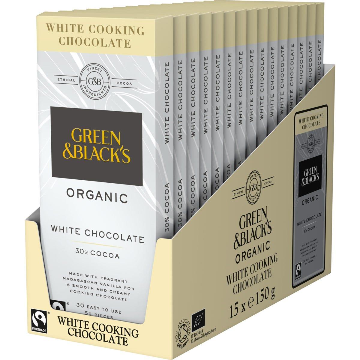 GB White Cook's Chocolate 150g (Qty: 15)