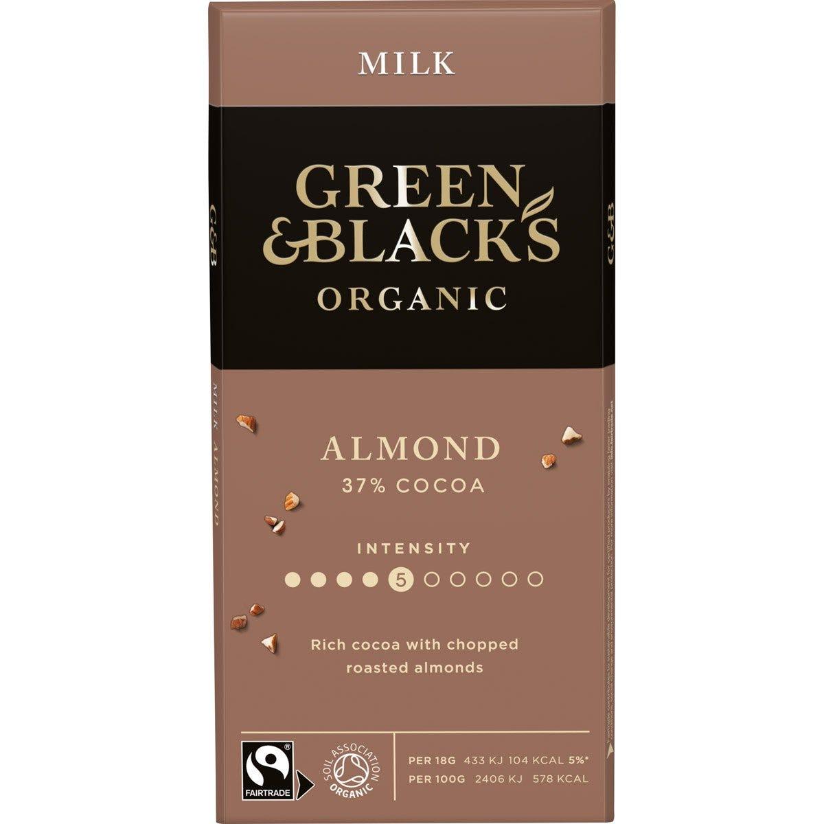 GB Organic Almond 90g Bar (Box of 15)