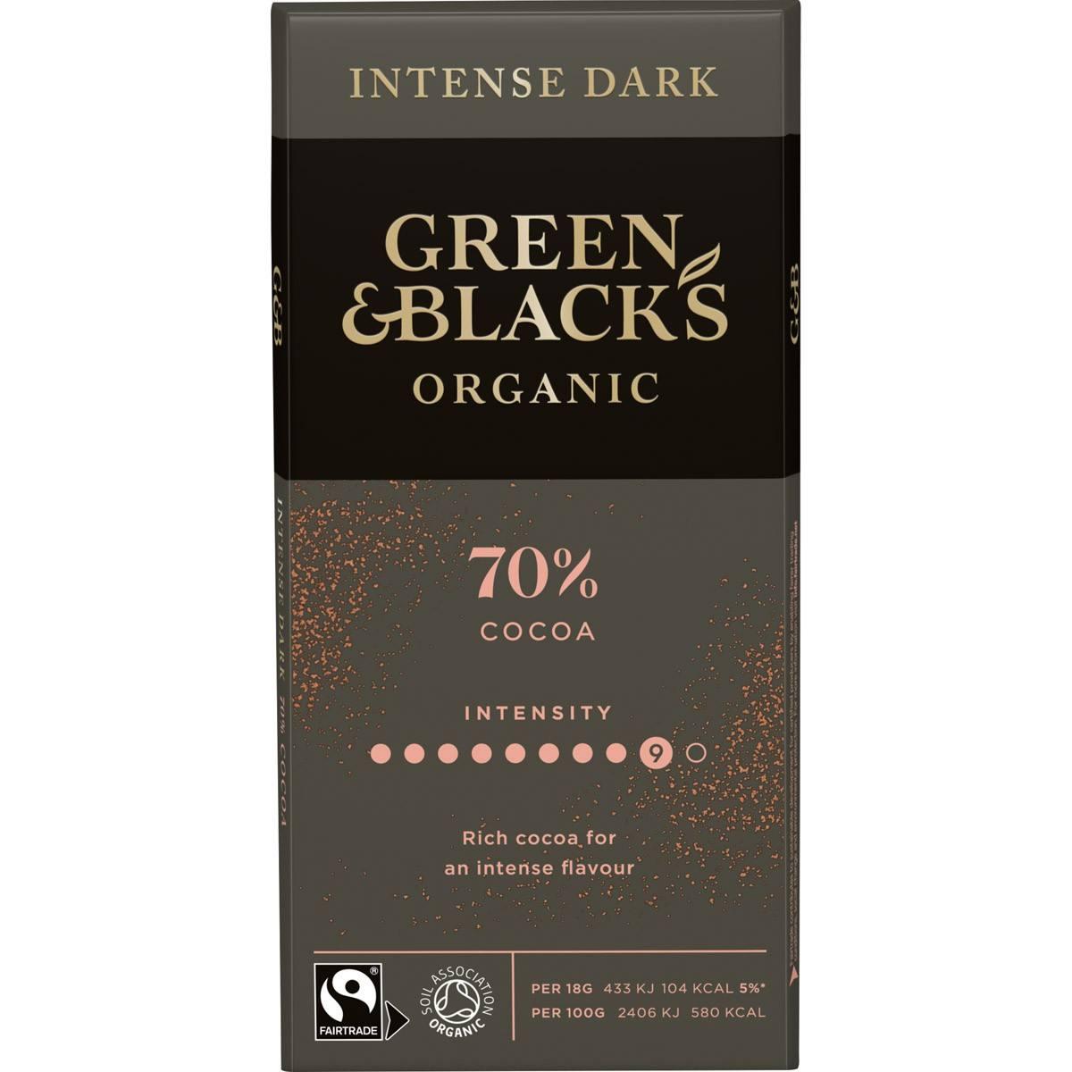 GB Organic Dark 70% 90g Bar