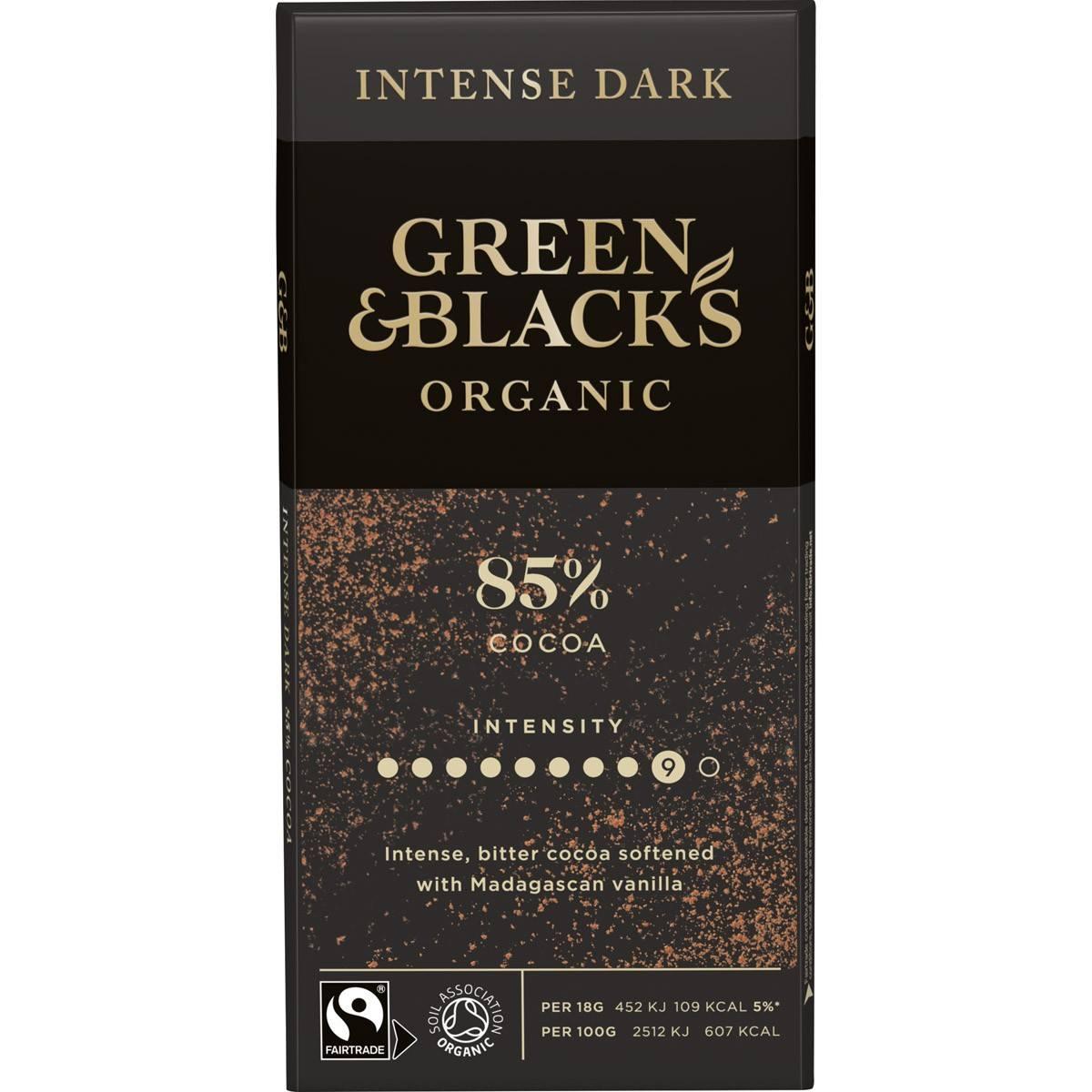 GB Organic Dark 85% 90g Bar (Box of 15)