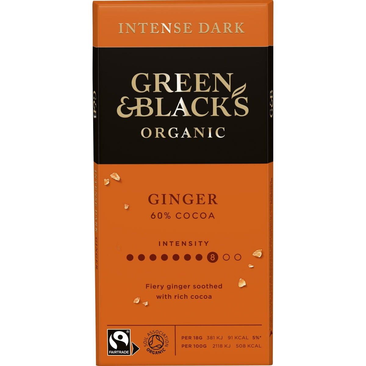 GB Organic Ginger 90g Bar (Box of 15)