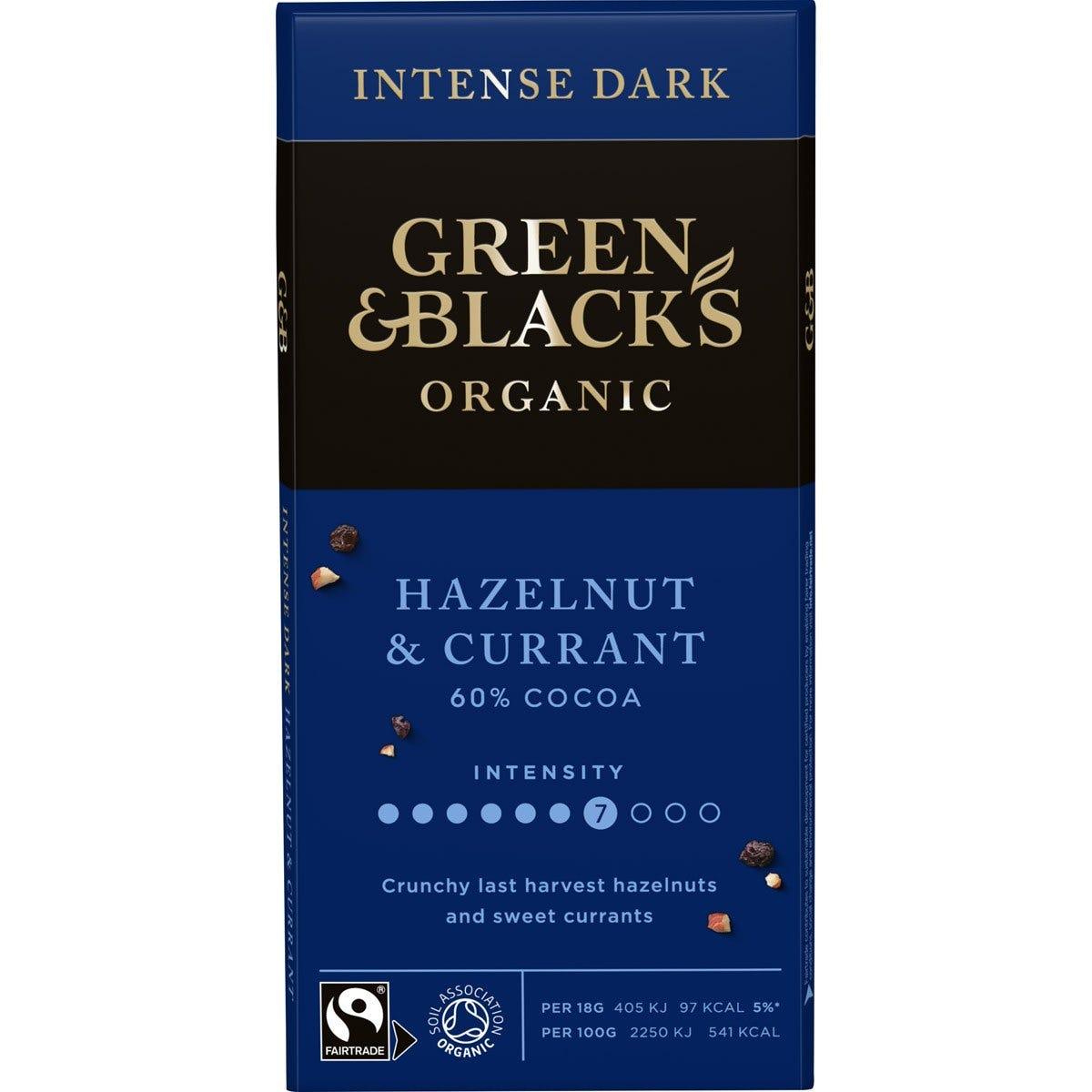 GB Organic Hazelnut  Currant 90g Bar (Box of 15)