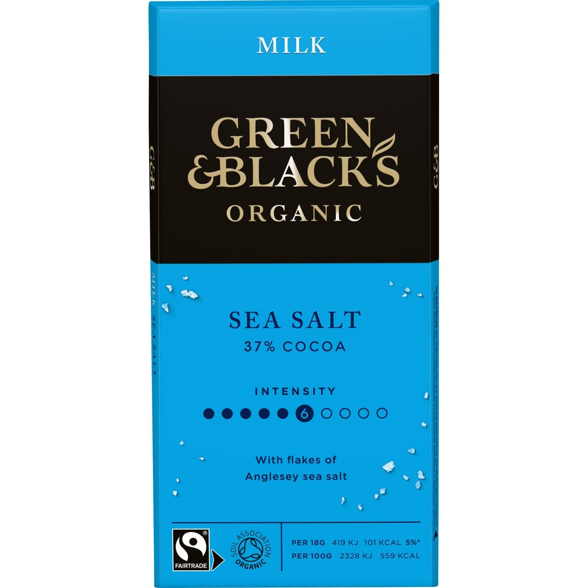 GB Organic Sea Salt 90g Bar (Box of 15)