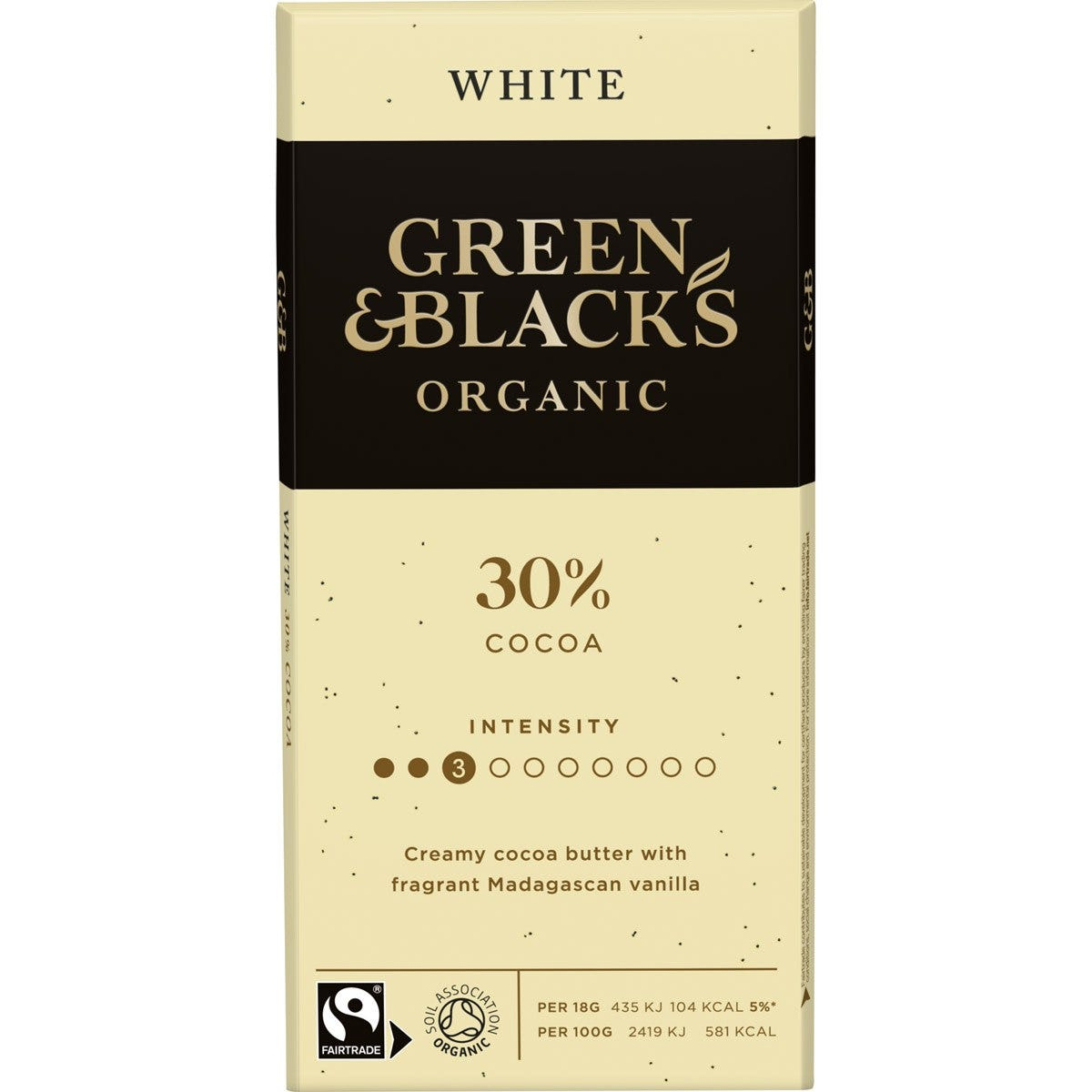 GB Organic White 90g Bar (Box of 15)