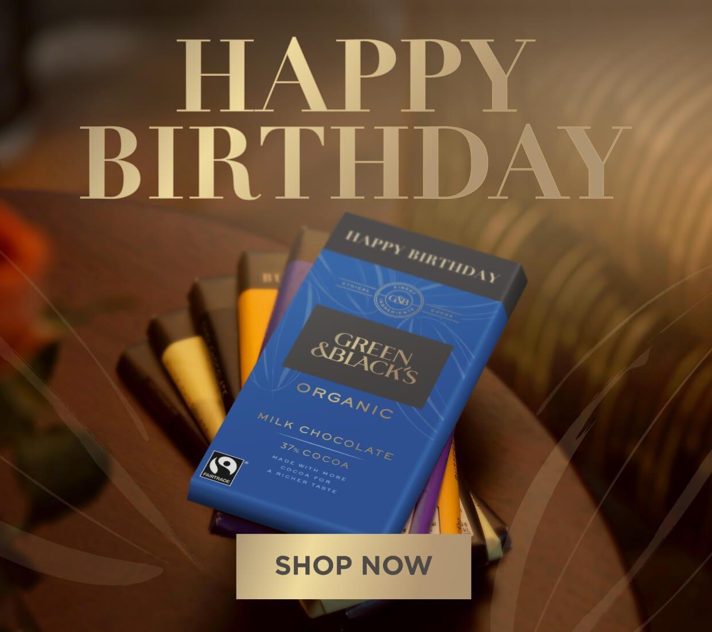 Green & Blacks Chocolate Birthday Gifts