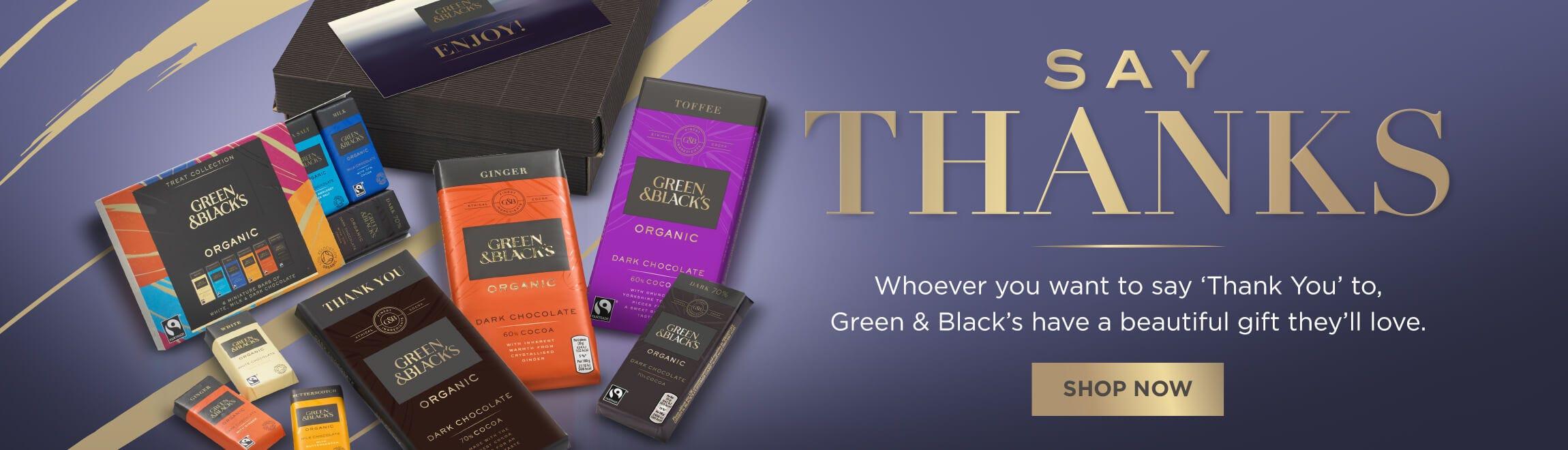 Green & Black's Organic Thank You Gifts