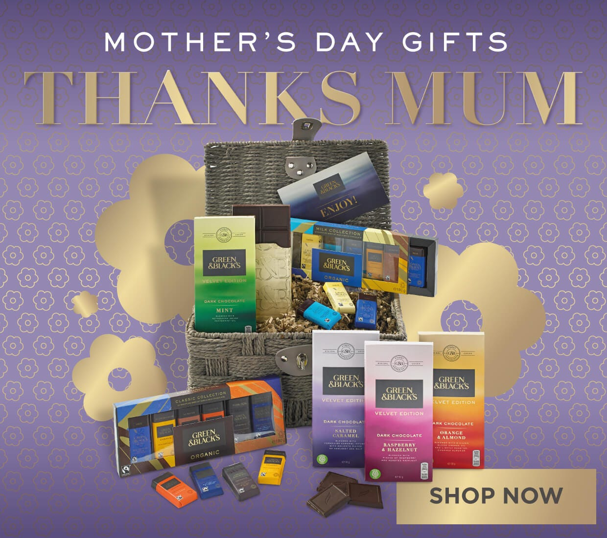 Indulgent Mothers Day Gifts from Green & Black's