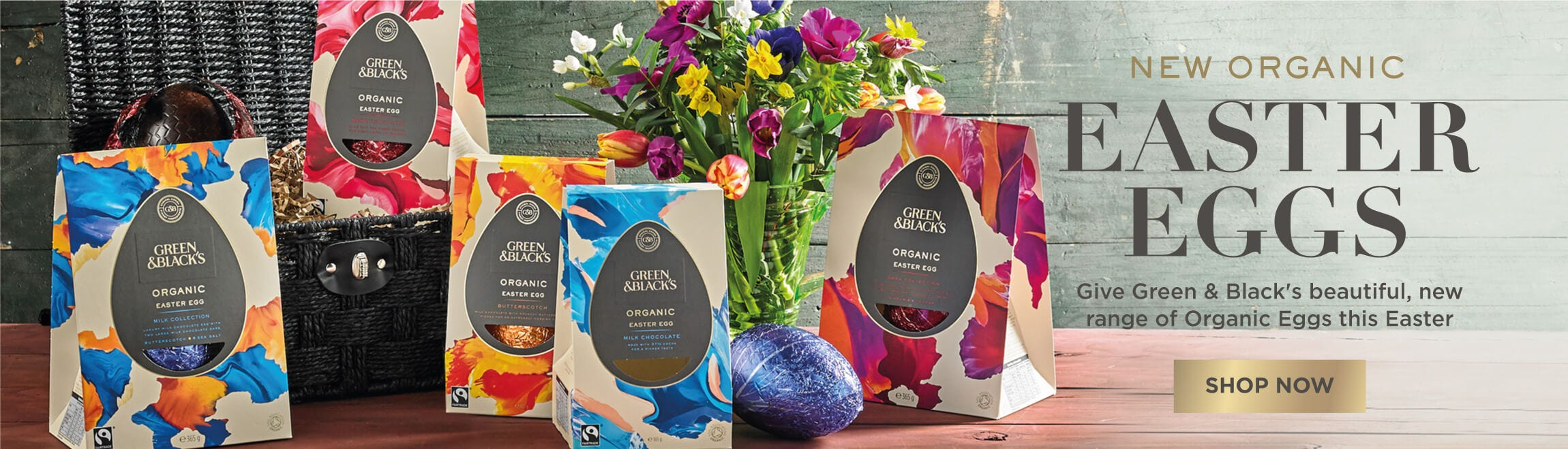 Green & Black's Easter Eggs and Easter Hampers