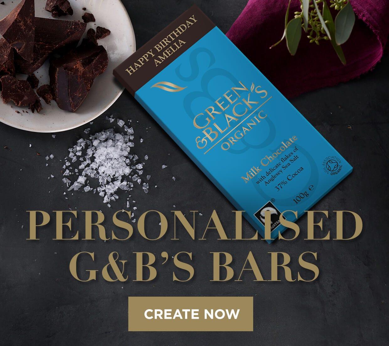 Green & Black's Personalised Bars