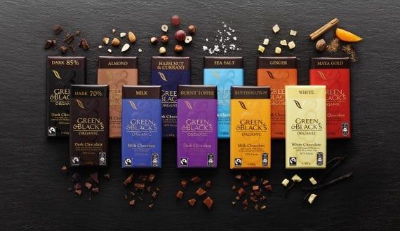 Organic chocolate Bar range