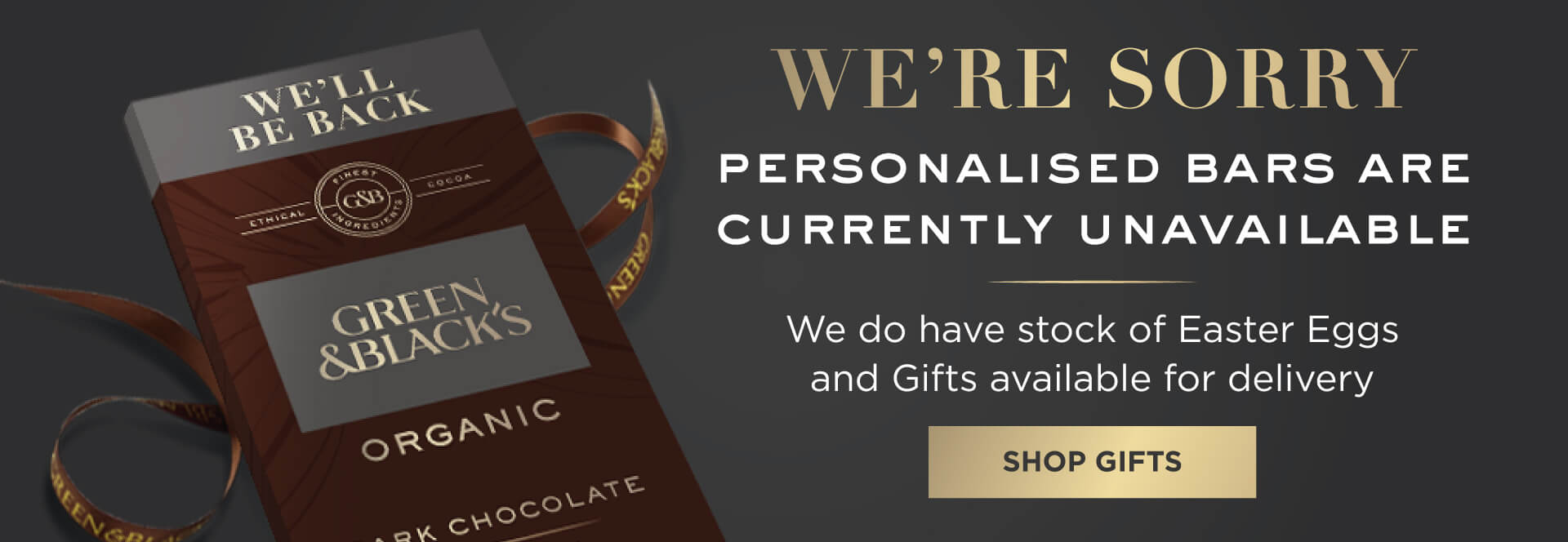 Green&Black's personalised chocolate