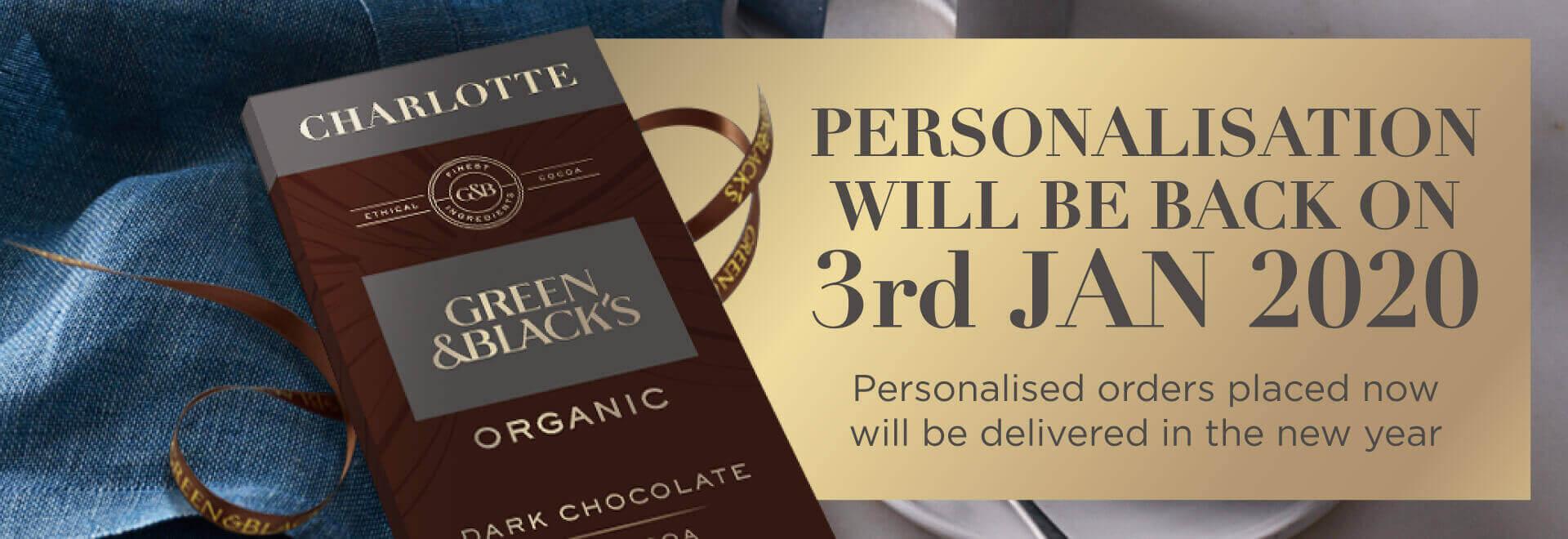 Green&Black's personalised chocolate
